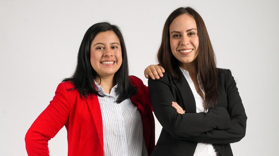 Cecilia Vega y Adriana Sinche: creadoras de 'Chapa tu beca'