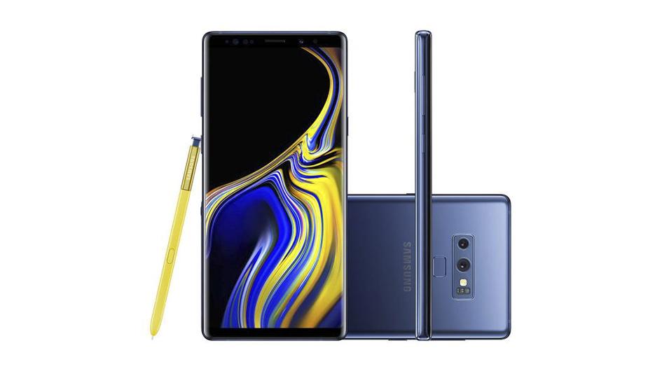 """Samsung Galaxy Note 9. Con una cámara de 12 MP + 12 MP, así como una pantalla de 6,4"""", es ideal para tomar fotos. Su cámara frontal es de 8 MP."""