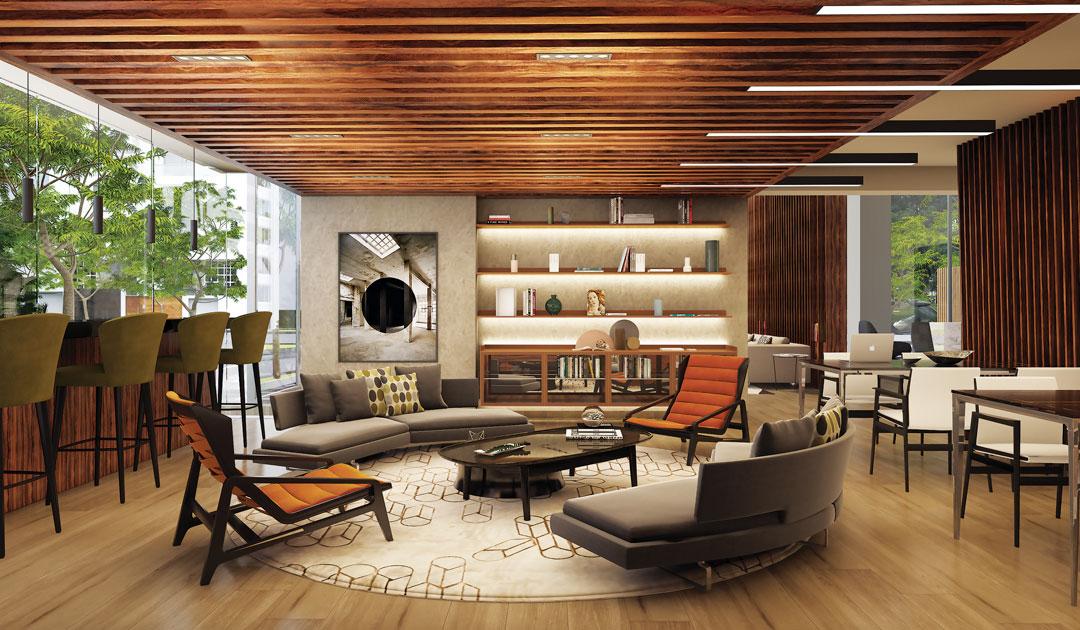 The Modern tiene espacios de co-working, útiles para reunirte con otros profesionales y emprendedores.