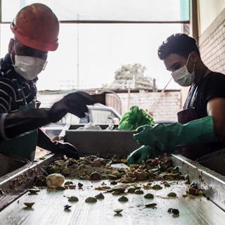 alimentos pobres en residuos