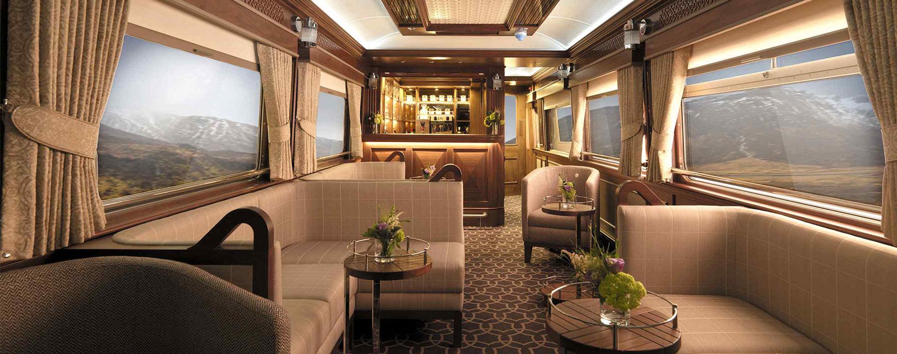 Los elegantes vagones del Belmond Grand Hibernian están inspirados en la arquitectura georgiana de Dublín.