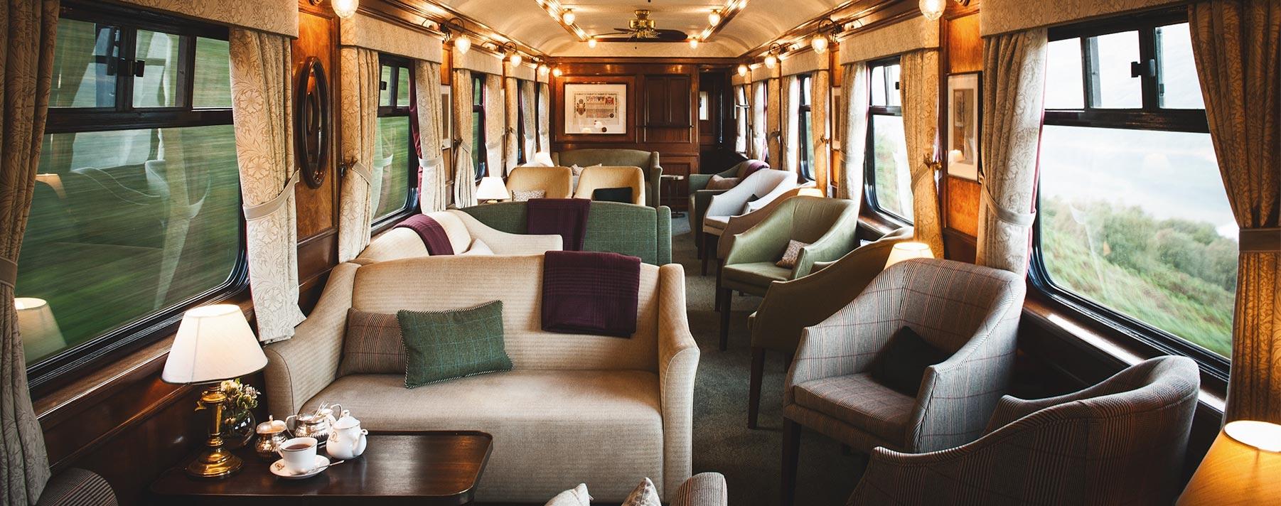 El Belmond Royal Scotsman es conocido como el recorrido en tren más caro del mundo.