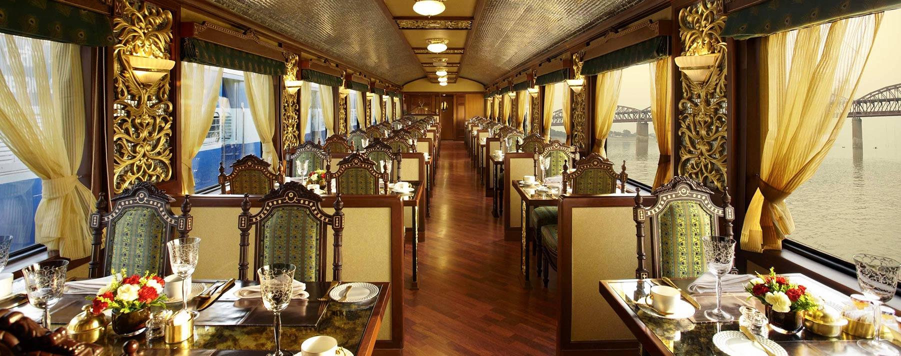 El tren Maharajas Express es un referente del lujo que reinó en la India, durante la colonia británica.