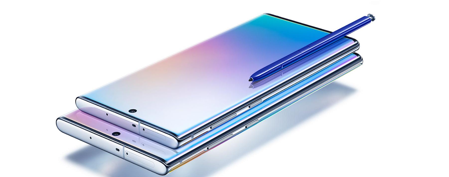 Samsung Galaxy Note 10. Este equipo ofrece un 8% más de área de pantalla utilizable y contará con la nueva pantalla Infinity-O.