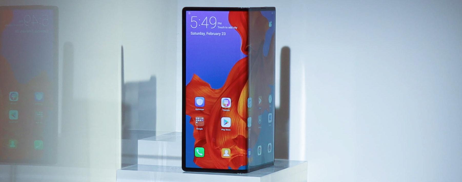 Huawei Mate X. Un teléfono plegable que contará con tecnología 5G.