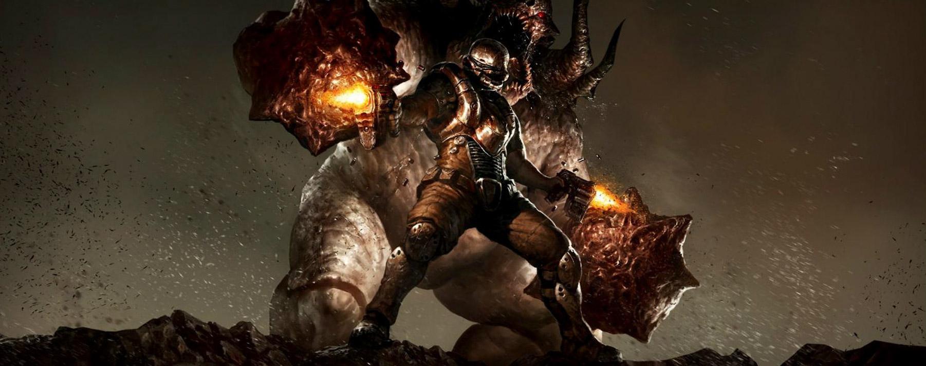 Doom 3. El juego tiene lugar en el año 2145, en el centro de investigación de la Union Aerospace Corporation (UAC) y en Marte.