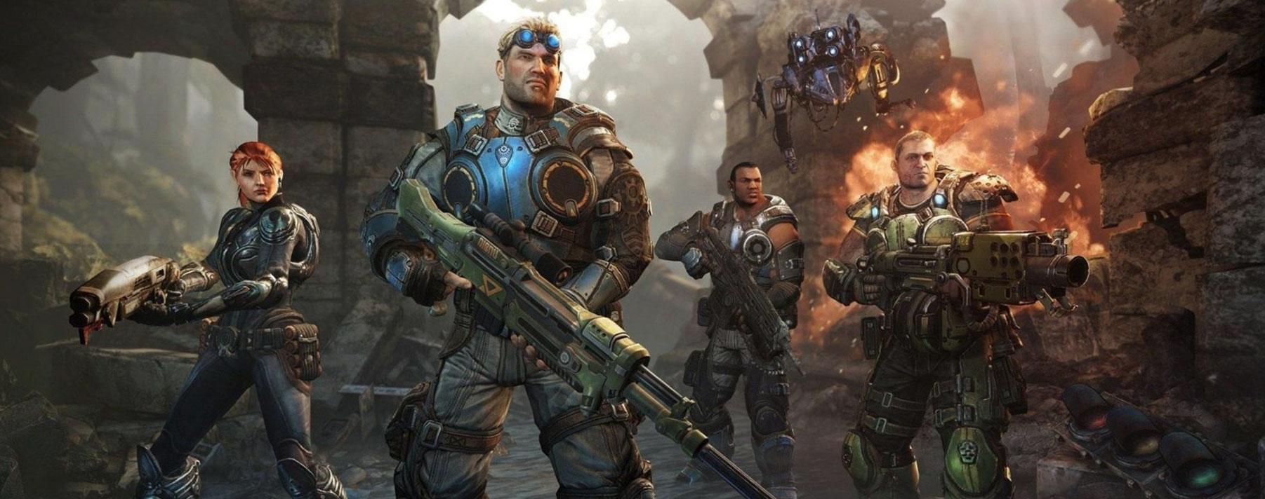 Gears of War. Los tres juegos originales y la precuela Judgment se pueden reproducir en Xbox One mediante compatibilidad con versiones anteriores.