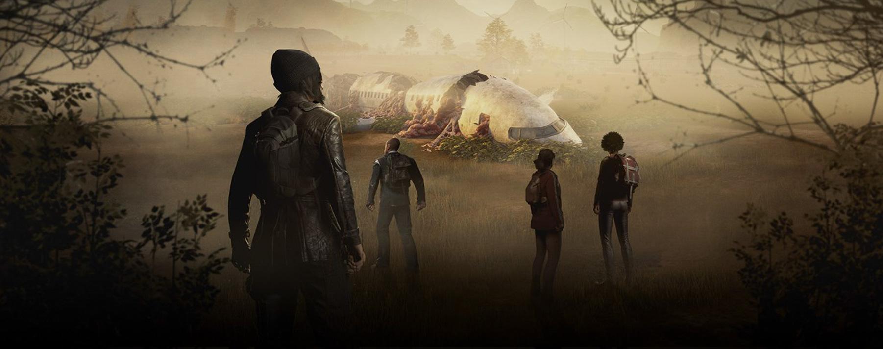 State of Decay 2. En este juego debes transformar a un grupo de supervivientes inexpertos en una comunidad estable capaz de sostenerse y defenderse contra ataques de zombies.
