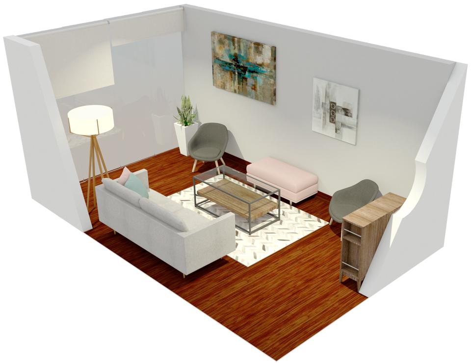 ¿Cómo decorar una sala alargada? Esta es la solución