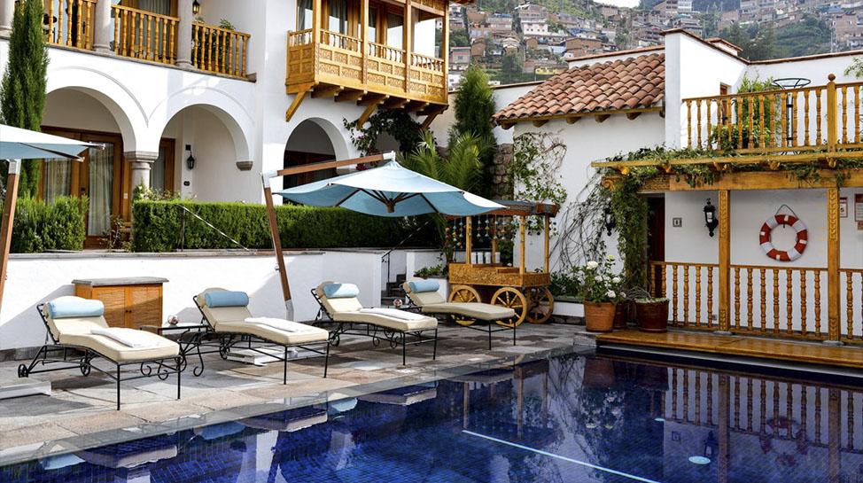 1. Belmond Palacio Nazarenas. Ubicado en Cusco, cuenta con 55 suites que ofrecen una estadía confortable en la ciudad de altura.