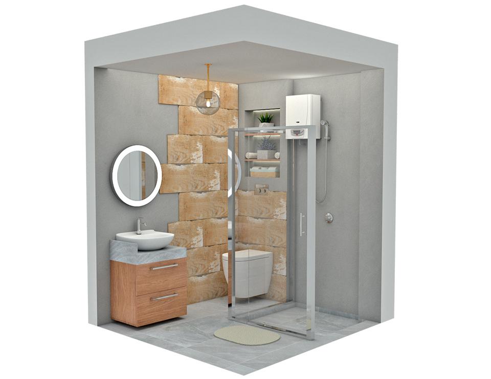 ¿Cómo convertir un pequeño baño en un espacio moderno?