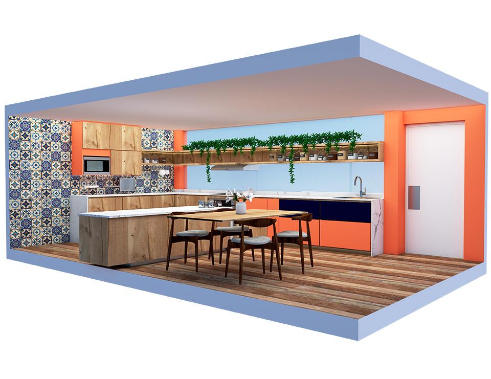 ¿Cómo dar calidez, luminosidad y color a una cocina oscura?